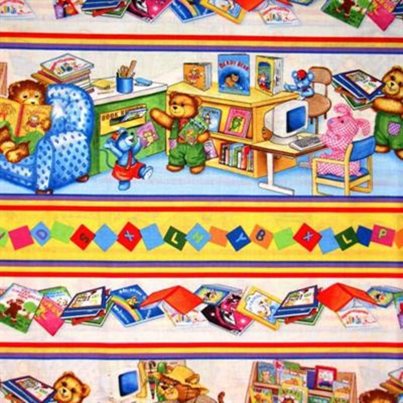 Cotton fabric childrens fabric corduroy teddy bear for Children s corduroy fabric