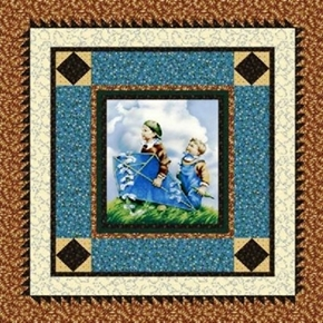 Cover Story Kite Flying Thimbleberries Childrens Large Fabric Panel