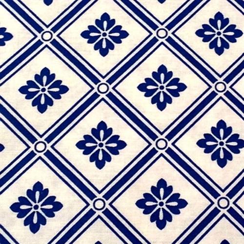 Cotton fabric pattern fabric blue moon classic blue for Moon pattern fabric