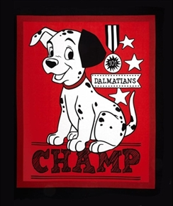 Disney 101 Dalmatians Champ Large Cotton Fabric Panel