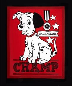 Picture of Disney 101 Dalmatians Champ Large Cotton Fabric Panel