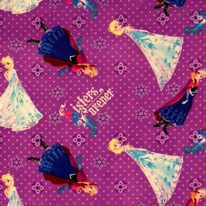 Disney Frozen Sisters Forever Polka Dot Toss Cotton Fabric