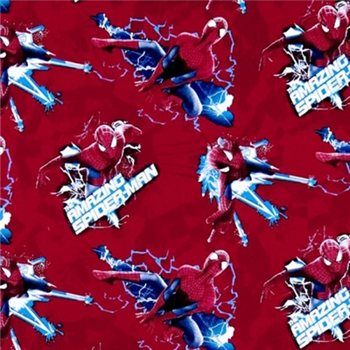 Spiderman 2 Electric Toss The Amazing Spiderman 2 Red Cotton Fabric