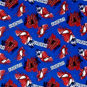 Spiderman Grunge The Amazing Spiderman Face And Logo Cotton Fabric
