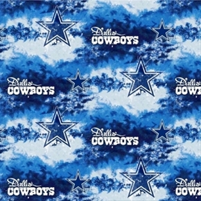 Nfl Football Dallas Cowboys Stars On Clouds 18X29 Cotton Fabric