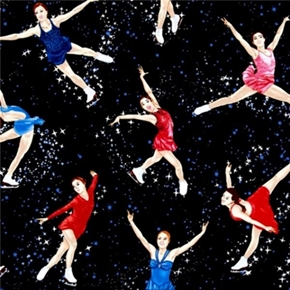 Picture of Skating with the Stars Figure Skaters Performing Cotton Fabric