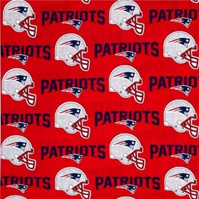 Nfl Football New England Patriots Helmets Names 18X29 Cotton Fabric
