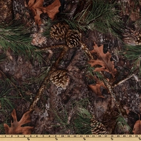 True Timber Outdoors Camo Mixed Pine Camouflage Cotton Fabric