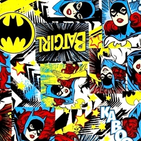 Picture of Girl Power II Batgirl in Squares DC Comics Cotton Fabric