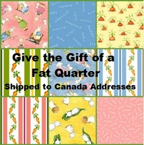 Fat Quarter Gift Shipped to Addresses in Canada