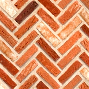 Quilting Naturals Brick Wall Light Red Herringbone Cotton Fabric