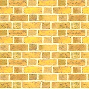 Quilting Naturals Brick Wall Neat Blonde Bricks Cotton Fabric