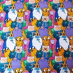Picture of Adventure Time Packed Characters Finn, Jake and Friends Cotton Fabric