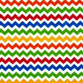 Ziggy Zig Zag Sketch Multi Color 12 Inch Chevrons Cotton Fabric