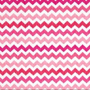 Ziggy Zig Zag Sketch Sweet Pink 12 Inch Chevrons Cotton Fabric