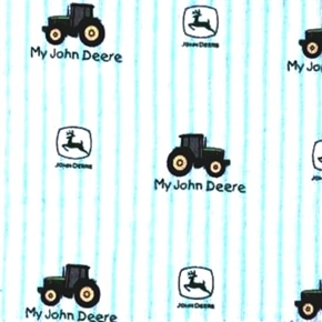 Picture of Flannel My John Deere Toddler Ticking Stripe Tractors Cotton Fabric