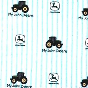 Flannel My John Deere Toddler Ticking Stripe Tractors Cotton Fabric
