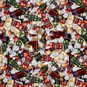 Man Of The House Ice Cold Beer In The Bottle Cotton Fabric