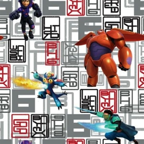 Disney Big Hero 6 Character Toss Hiro Hamada Cotton Fabric