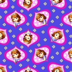 Picture of Disney Princess Sofia the First Character Cameos Cotton Fabric