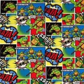 Teenage Mutant Ninja Turtle Comic Patch Cotton Fabric