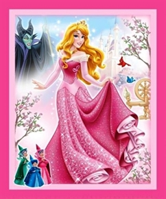 Disney Princess Sleeping Beauty Large Cotton Fabric Panel