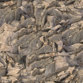 Running Wild Brown Gray Stone Rocks Rocky Mountain Cotton Fabric