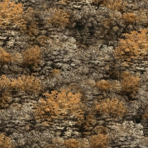 Picture of Running Wild Brown Trees and Tumbleweed Cotton Fabric