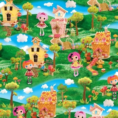 Cute As A Button Lalaloopsy Girl Decorated House Scene Cotton Fabric
