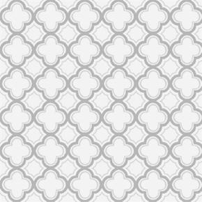Sorbets Quatrefoils Tiny Silver Quatrefoil Cotton Fabric
