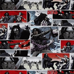 Walking Dead TV Series Michonne and Sword Cotton Fabric
