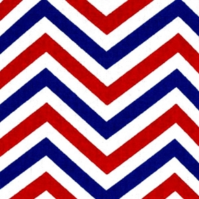 Patriotic Chevron Patriotic Red White and Blue Chevrons Cotton Fabric