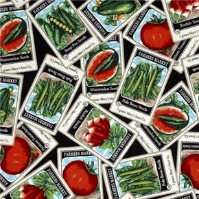 Everyday Favorites Vegetables Garden Seed Packs Cotton Fabric