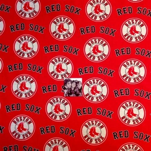 cotton fabric sports fabric mlb baseball boston red sox logos