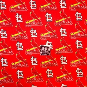 Mlb Baseball Saint Louis Cardinals Logo Red 18X29 Cotton Fabric