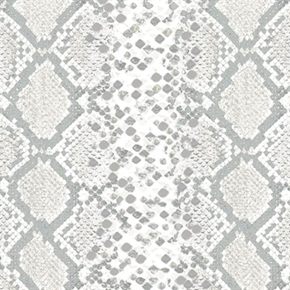 Safari Snake Skin Snakeskin Pattern in Light Gray Cotton Fabric
