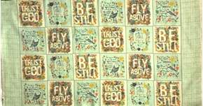 Picture of Bloom Inspirational Patches Religious 24x44 Large Cotton Fabric Panel