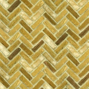 Quilting Naturals Brick Wall Blonde Herringbone Cotton Fabric