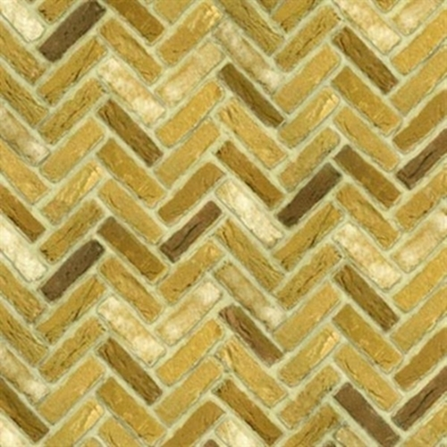 Picture of Quilting Naturals Brick Wall Blonde Herringbone Cotton Fabric