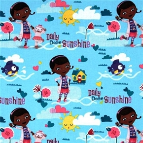 Disney Doc McStuffins Daily Dose of Sunshine Cotton Fabric
