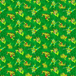 TMNT Teenage Mutant Ninja Turtle Mutated in 1984 Cotton Fabric