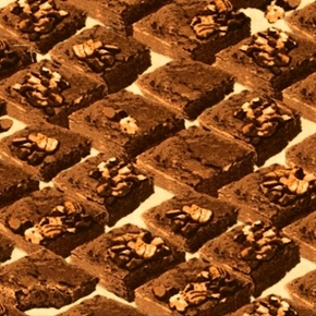 In the Mix Chocolate Brownies With Walnuts Cotton Fabric