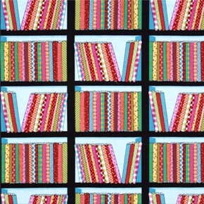 Picture of Shop Local Colorful Bolts of Fabric on Shelves Cotton Fabric