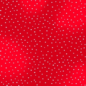 Picture of Rudolph and Friends White Polka Dots on Red Cotton Fabric