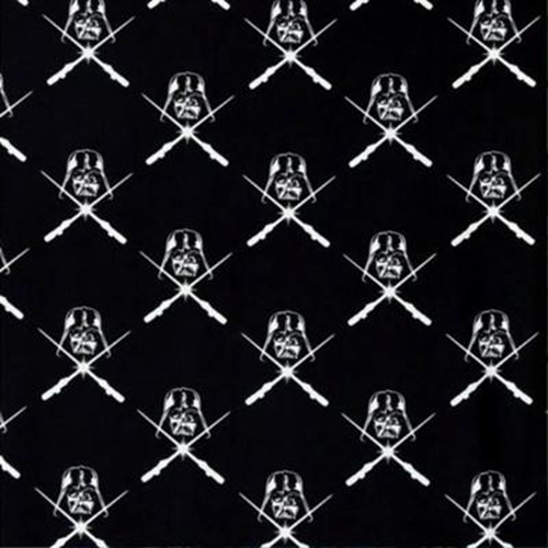 Glowing Lightsabers Darth Vader Glow in the Dark Cotton Fabric
