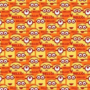 Despicable Me 1 In A Minion Orange Bello Minions Cotton Fabric