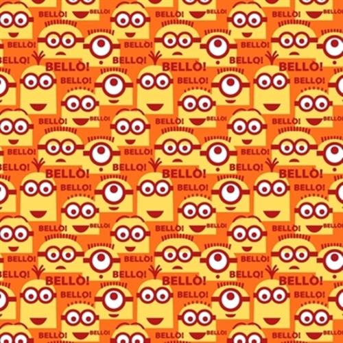 Despicable Me 1 In A Minion Orange Bello Minions Cotton Fabric