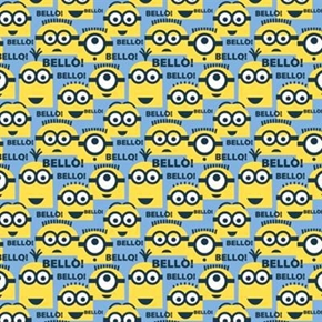 Despicable Me 1 In A Minion Blue Bello Minions Cotton Fabric