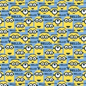 Despicable Me 1 In A Minion Blue Bello Minions Cotton Fabric