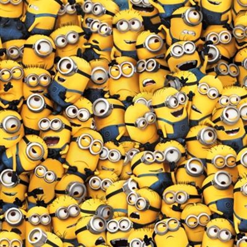 Despicable Me 1 In a Minion Packed Minions Cotton Fabric
